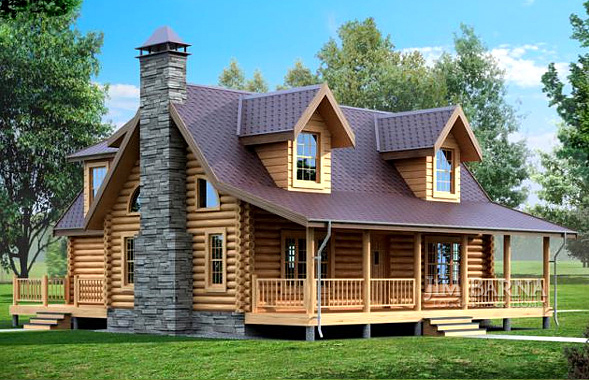 Monticello for Log home plans tennessee