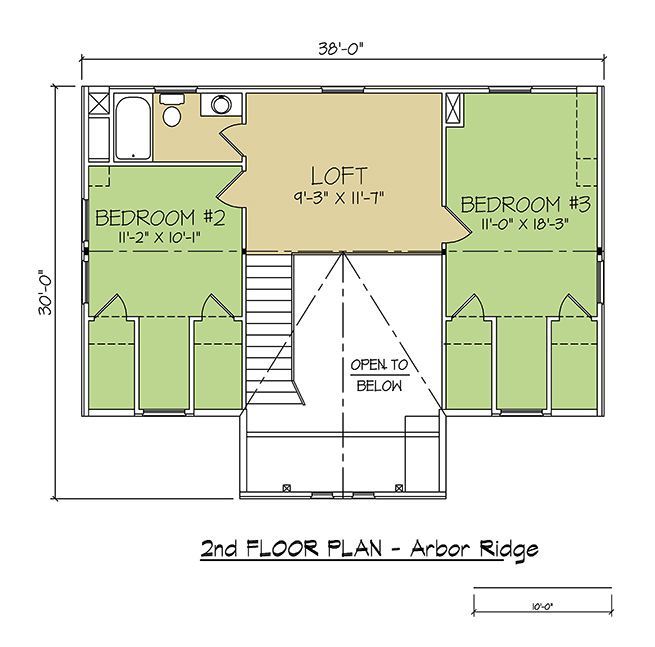 2nd FLOOR PLAN - Arbor Ridge