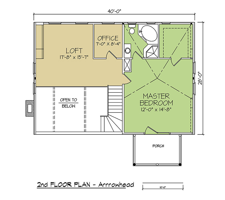 2nd FLOOR PLAN - Arrowhead