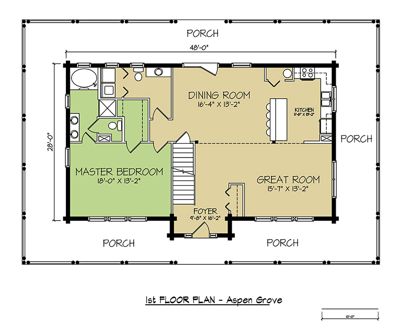 1st FLOOR PLAN - Aspen Grove