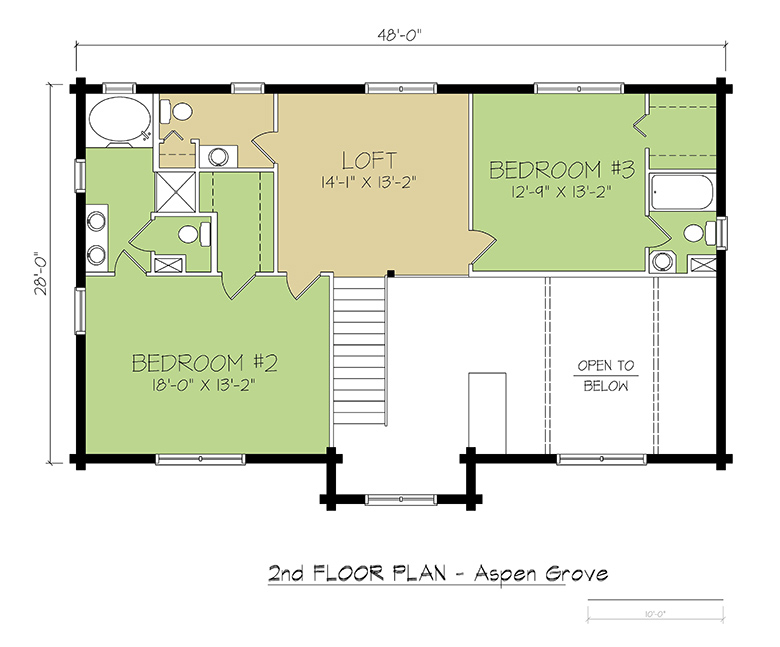 2nd FLOOR PLAN - Aspen Grove