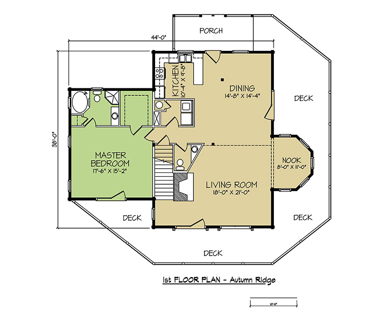 1st FLOOR PLAN - Autumn Ridge