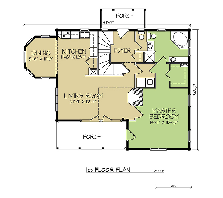 1st FLOOR PLAN - Bay Ridge