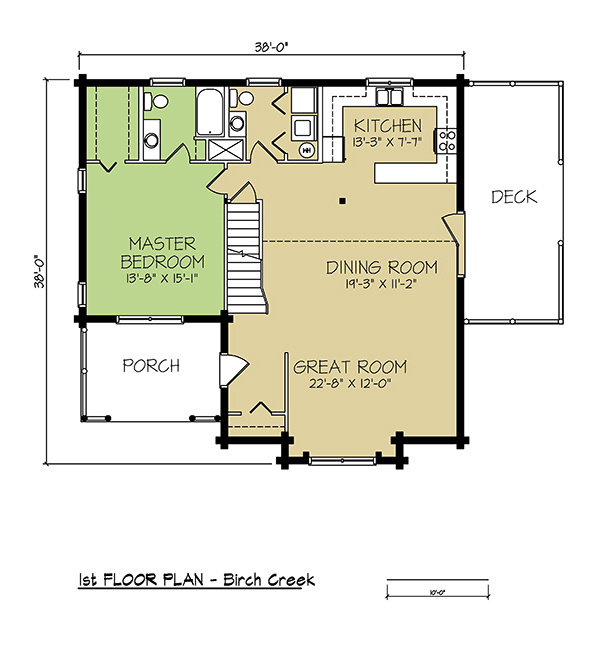 1st FLOOR PLAN - Birch Creek
