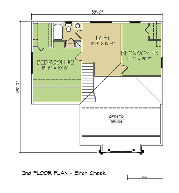 2nd FLOOR PLAN - Birch Creek