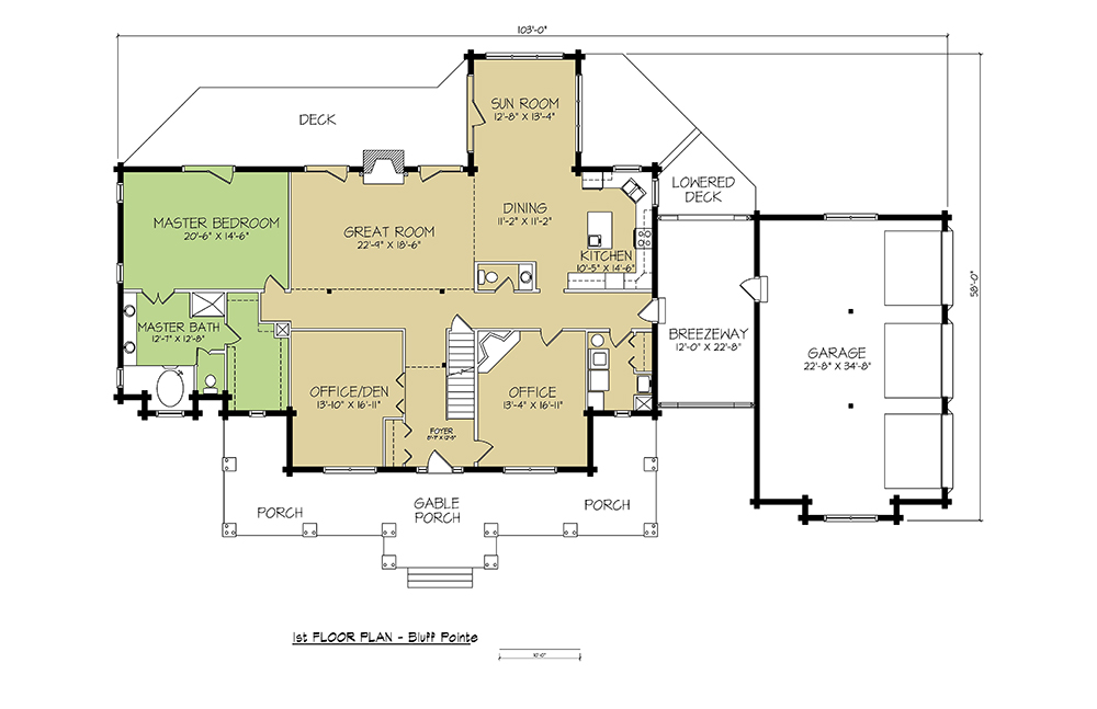 1st FLOOR PLAN - Bluff Pointe