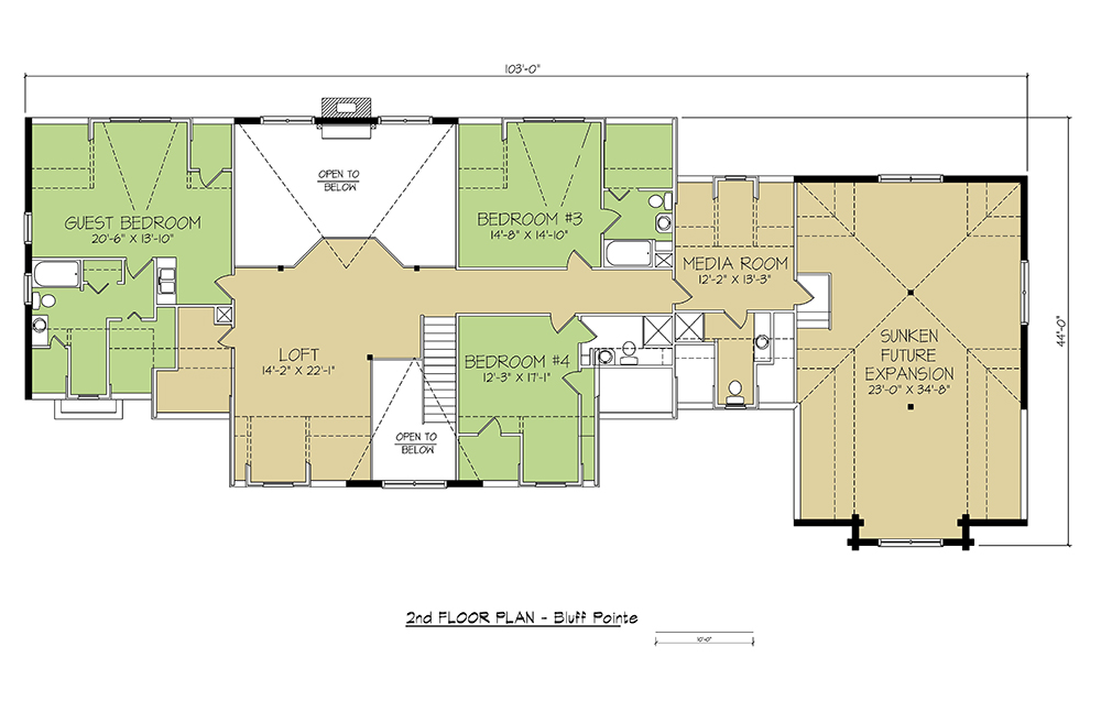 2nd FLOOR PLAN - Bluff Pointe