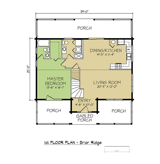 1st FLOOR PLAN - Briar Ridge
