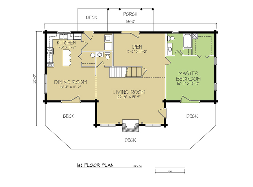 1st FLOOR PLAN - Cambridge