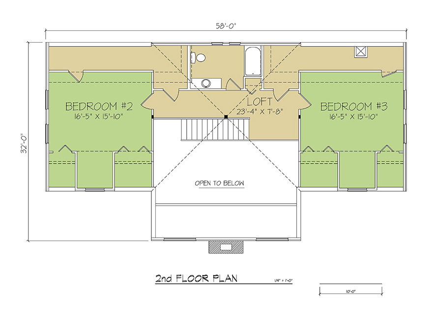 2nd FLOOR PLAN - Cambridge