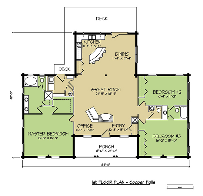 1st FLOOR PLAN - Copper Falls