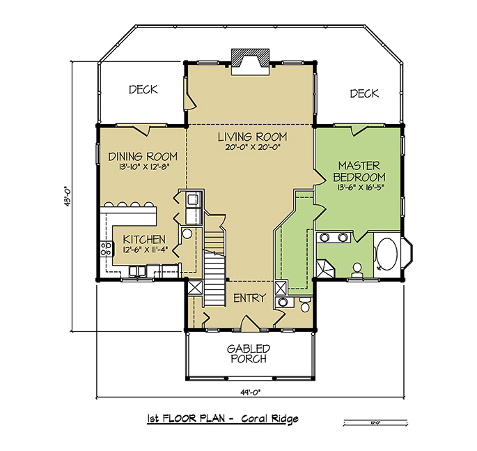 1st FLOOR PLAN - Coral Ridge