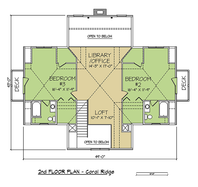 2nd FLOOR PLAN - Coral Ridge