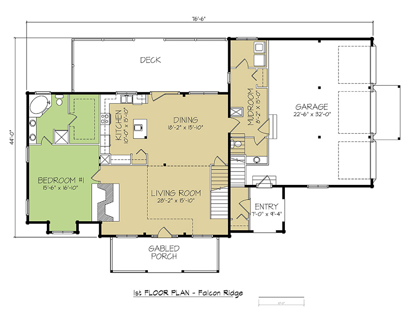 1st FLOOR PLAN - Falcon Ridge