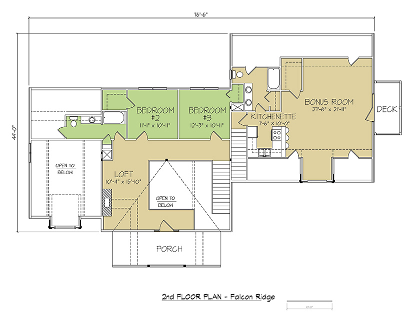 2nd FLOOR PLAN - Falcon Ridge