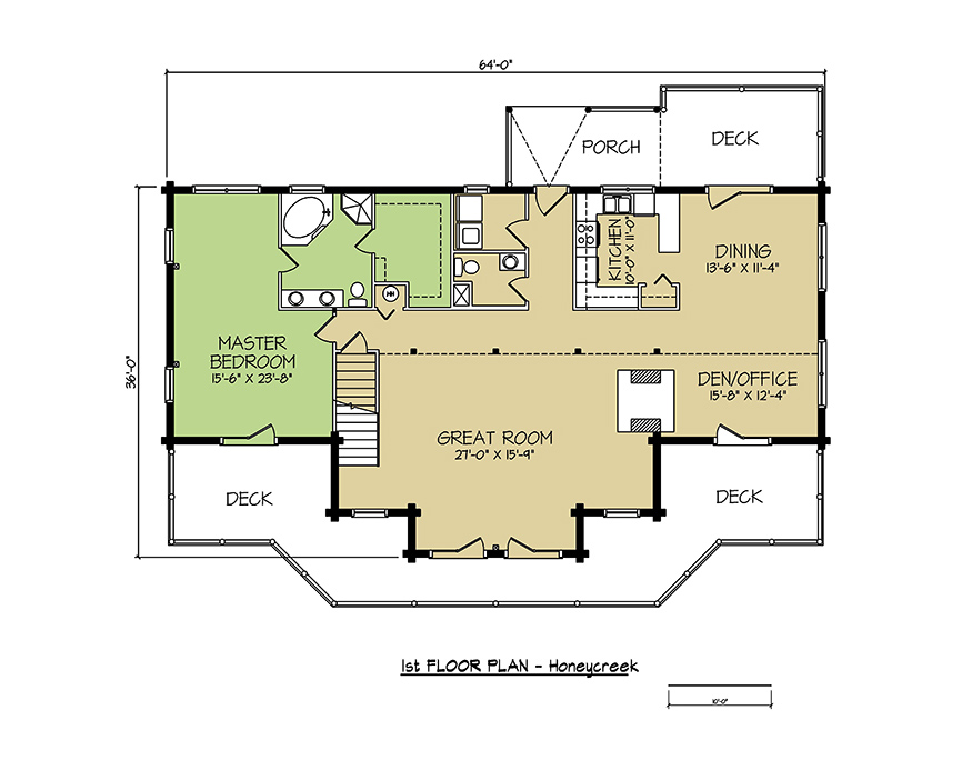 1st FLOOR PLAN - Honey Creek