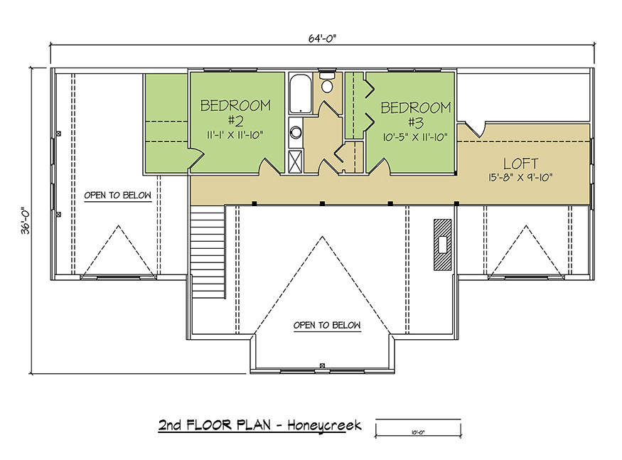 2nd FLOOR PLAN - Honey Creek
