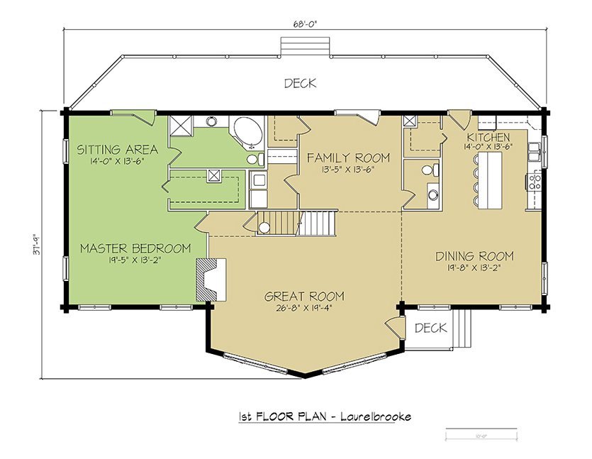 1st FLOOR PLAN - Laurelbrooke