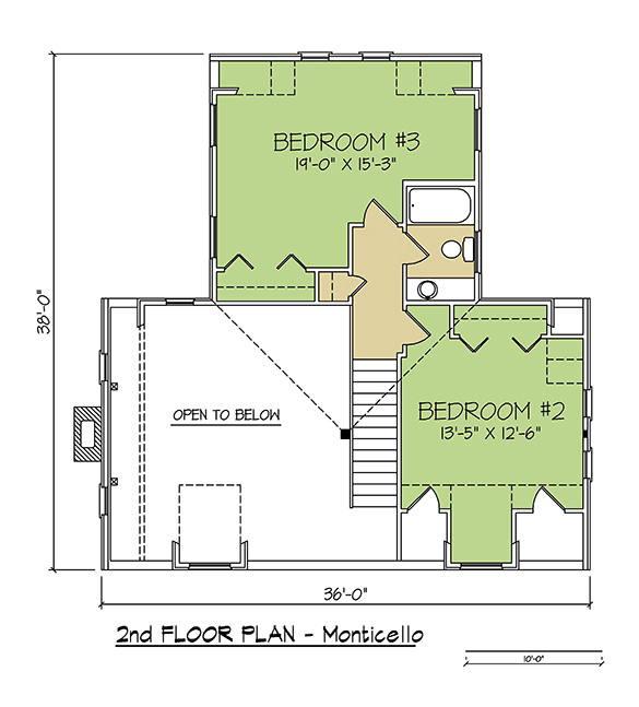 2nd FLOOR PLAN - Monticello