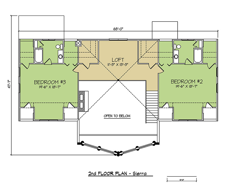 2nd FLOOR PLAN - Sierra