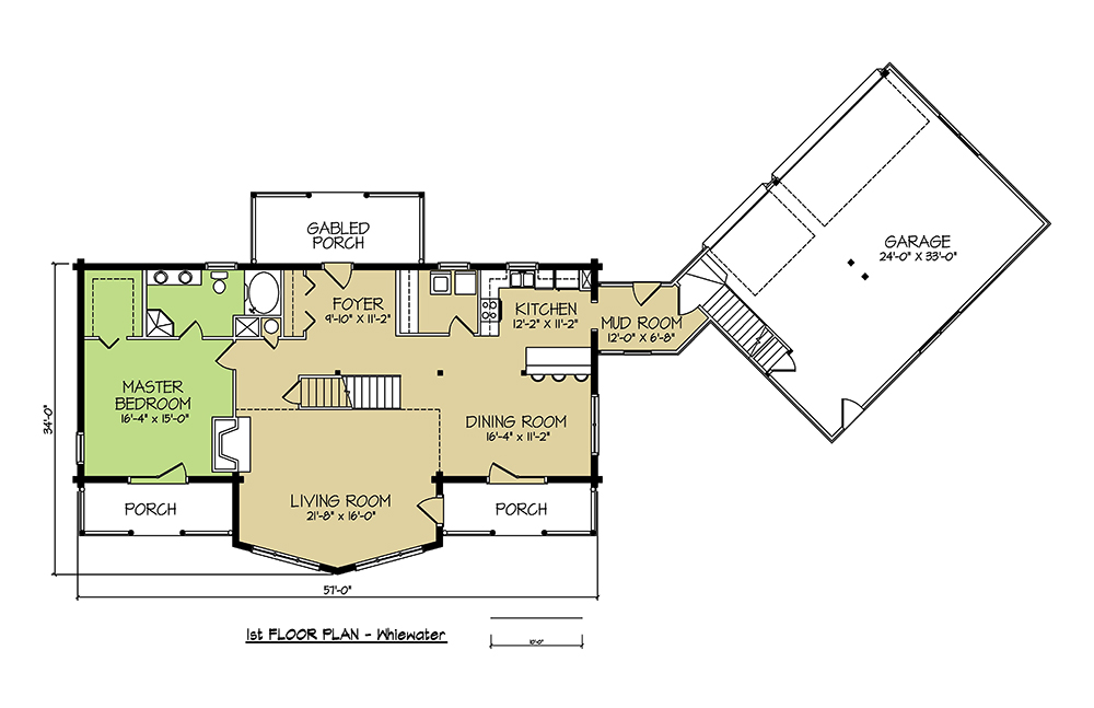 1st FLOOR PLAN - Whitewater