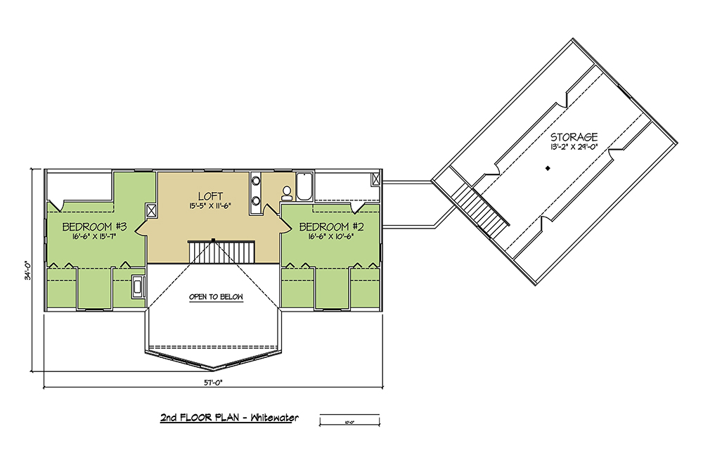 2nd FLOOR PLAN - Whitewater