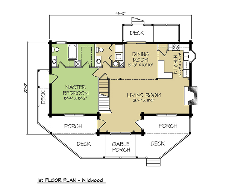 1st FLOOR PLAN - Wildwood